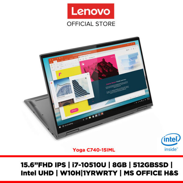 Lenovo Notebook Laptop Yoga C740-15IML Iron Grey 81TD005PMJ 15.6FHD IPS/I7/8GB/512GBSSD/INTEL UHD/W10H/OFF.H&S/1YRWRTY Malaysia