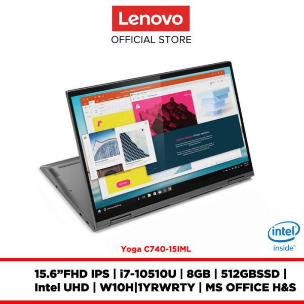 Lenovo Notebook Laptop Yoga C740-15IML Iron Grey 81TD005PMJ 15.6FHD IPS/I7/8GB/512GBSSD/INTEL UHD/W10H/OFF.H&S/1YRWRTY Malaysia