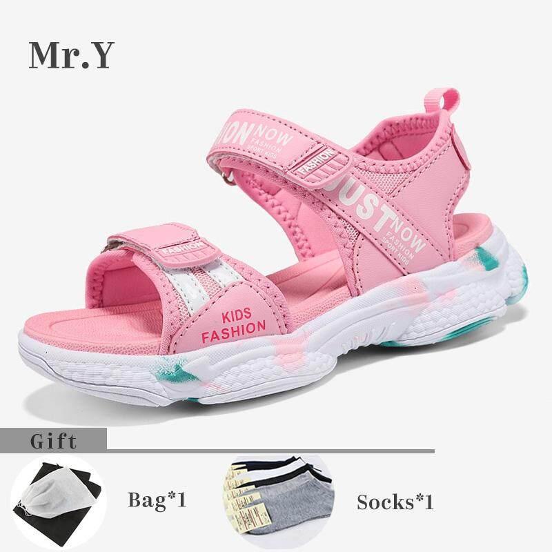 Giá bán Mr. Y Size 27-37 Trẻ Em Giày Dép Bé Gái Thời Trang Bít Mũi Thể Thao Giày Sandal Trẻ Em Bé Gái Giày Mềm Giày
