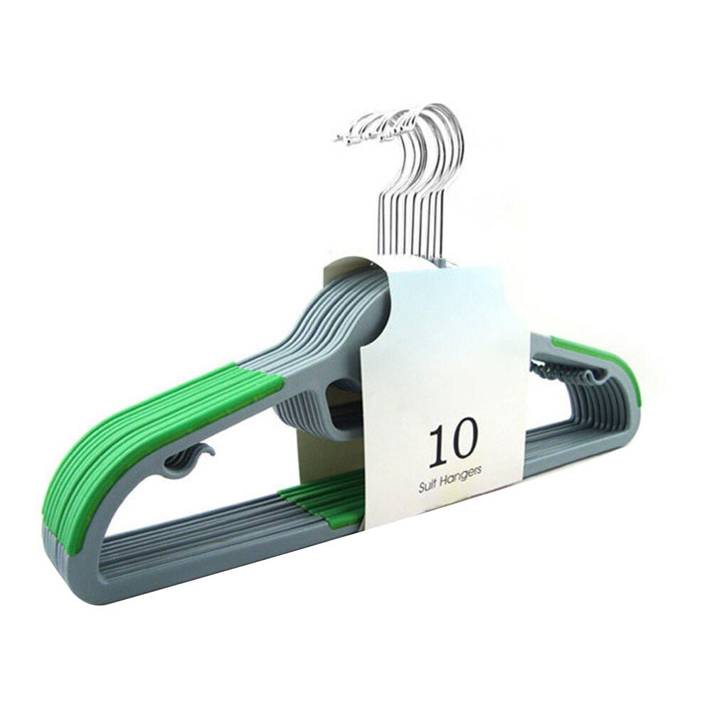 10 Chiếc Tiết Kiệm Không Gian Chống Trượt Nhựa Phơi Quần Áo Quần Móc Áo Giá Ngăn