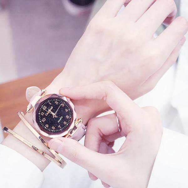 Wangwang Women Waterproof Watch with Leather Band Simple Quartz Wristwatch Lady Dress Watch Korean Fashion Watches Malaysia