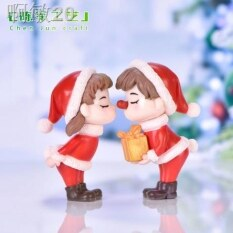 ✓ Cặp Đôi Micro Cảnh Diy Giáng Sinh Bonsai Thịt Nội Thất Bài Viết PVC Nhân Vật Nhựa Nhân Vật Crystal Ball Thủ Công Mỹ Nghệ Phụ Kiện