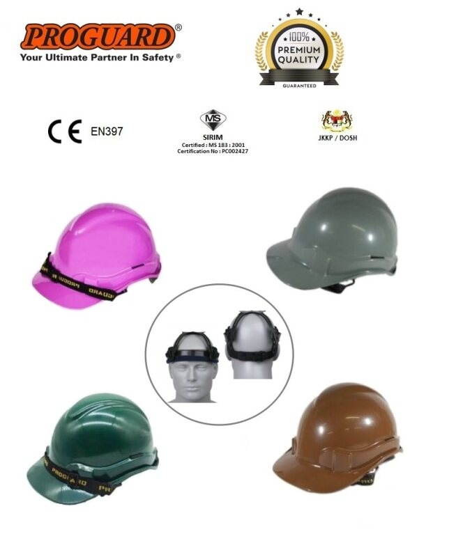 ADVANTAGE I ABS Safety Helmet/ Safety Hard Hat - Slide Lock Purple, Grey, Green, Brown (SIRIM & DOSH Approval) PROGUARD