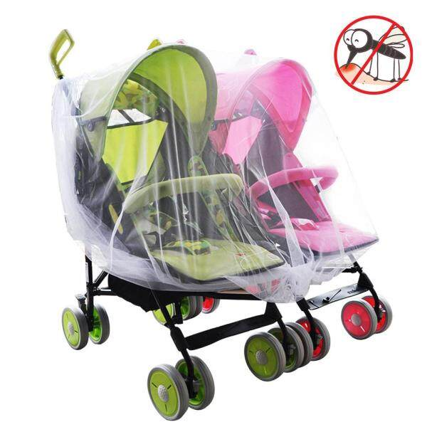 Aiyini SHOP Twin Baby Stroller Mosquito Net Crib Cradle Breathable Mosquito Net Singapore