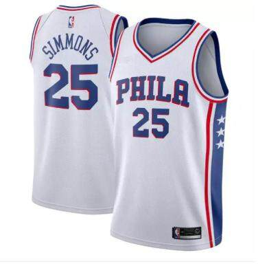 b42735777 NBA For Male Philadelphia 76ers Basketball Clothes Num 25 Swingman Jersey  Ben Simmons Authentic lightweight Official