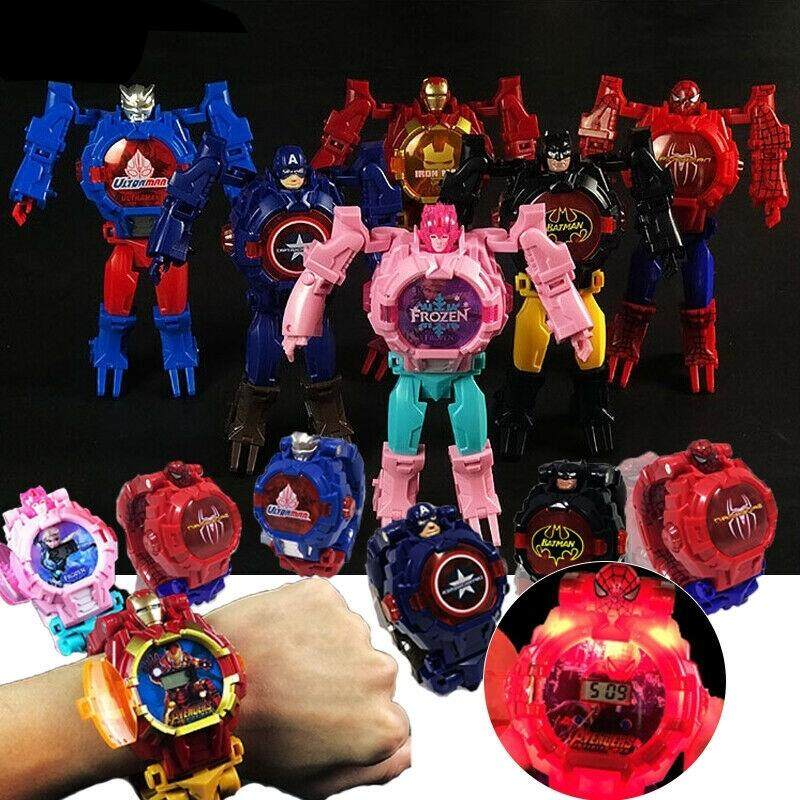 Deformation Series Hero Watch Avengers Heroes Kids Watch Kids Robot Watch With Light Malaysia
