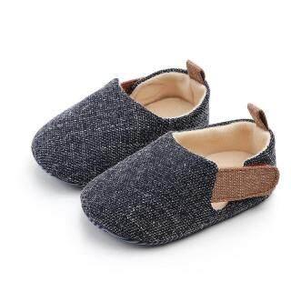Giày Em Bé Đế Bằng Màu Trơn Không Trơn Trượt Nhiều Màu Sắc Nhiều Kích Thước thích hợp với cả bé trai và bé gái - INTL thumbnail