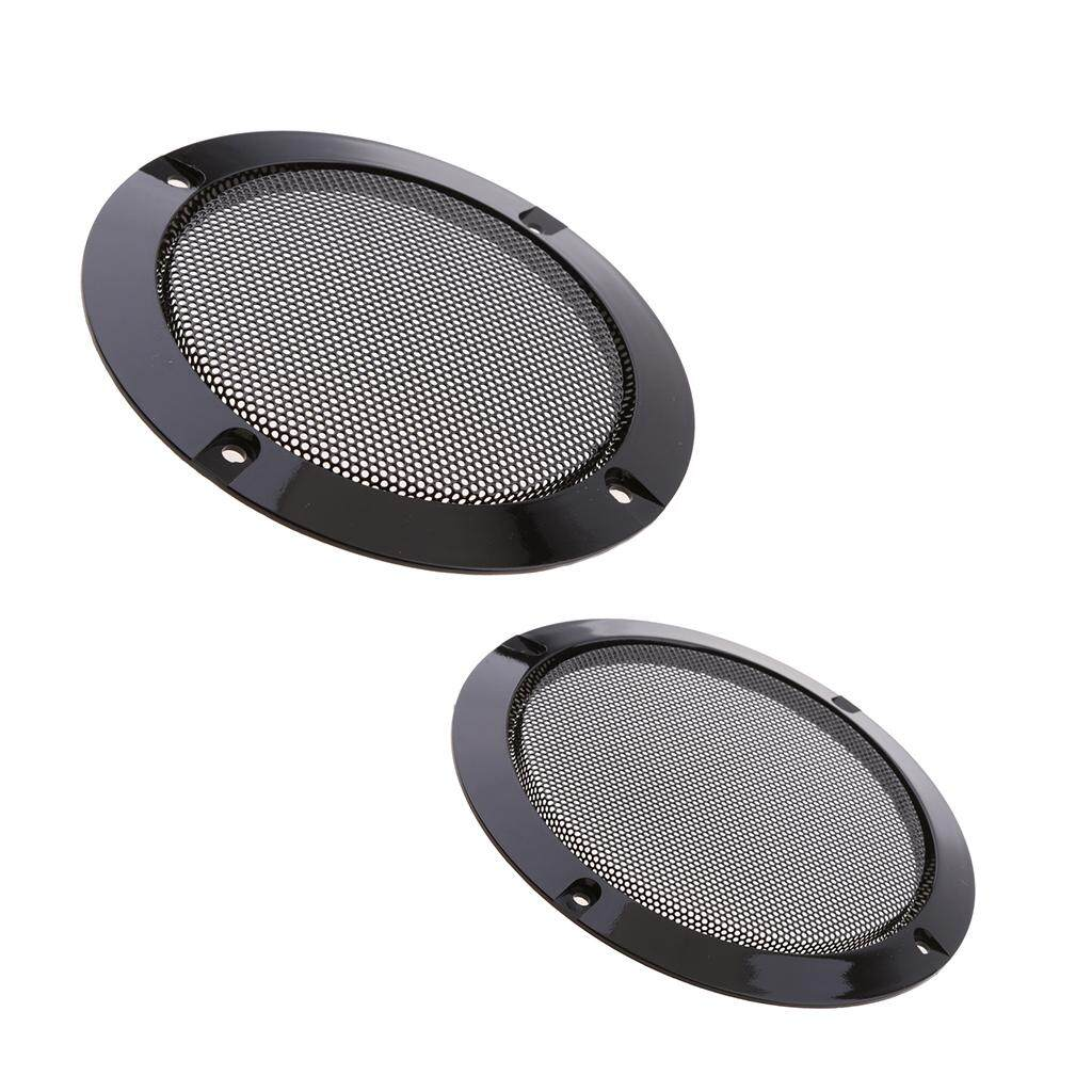 SunniMix 2Pcs Speaker Cover Metal Mesh Grille Protection Decorative on
