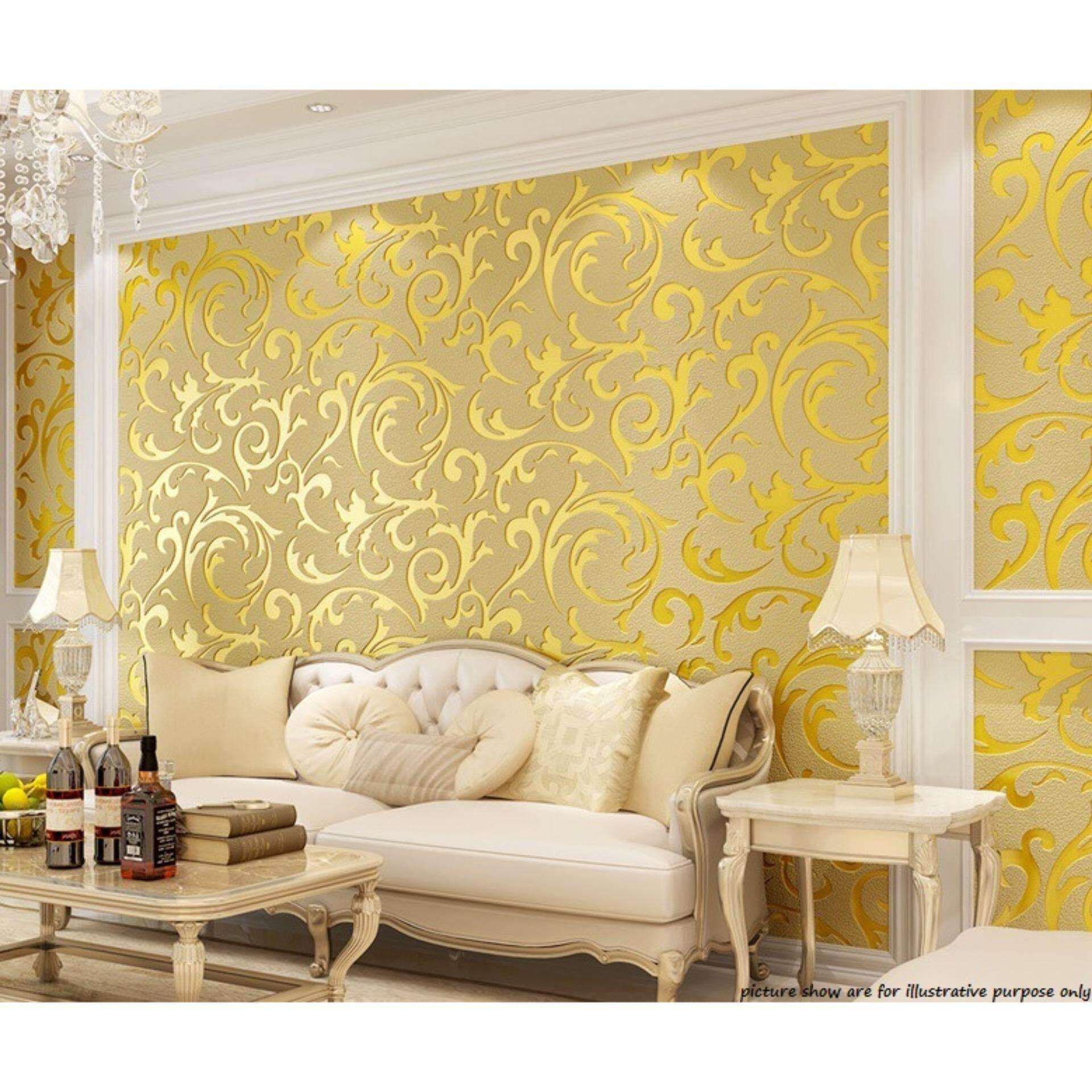 WALLPAPER Crochet Flower 3D  Wall Paper Non-woven Design Wallpaper for Living Room Bedroom
