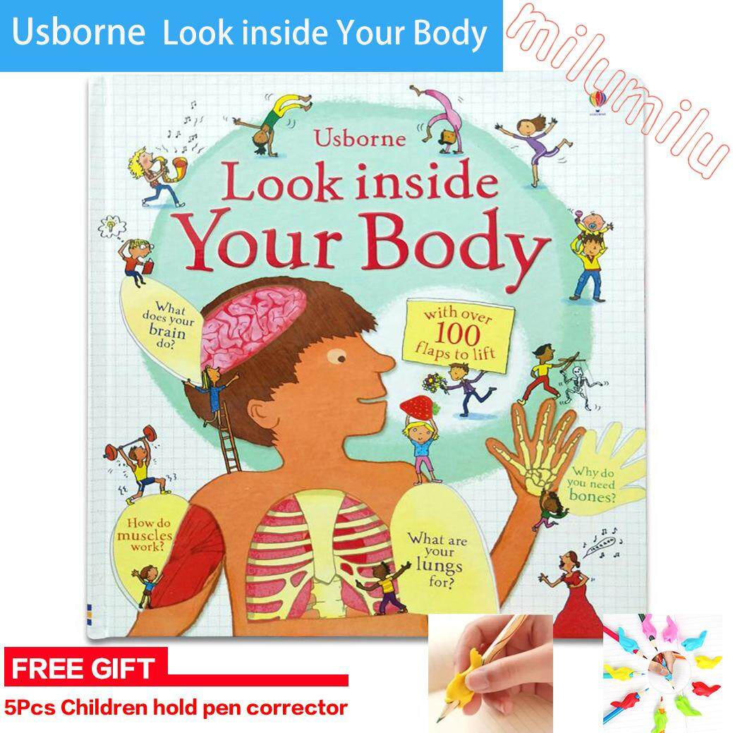 Usborne English 3D Look Inside Your Body Flap Book Education For Children With Over 100 Flaps To Lift Hard Cover