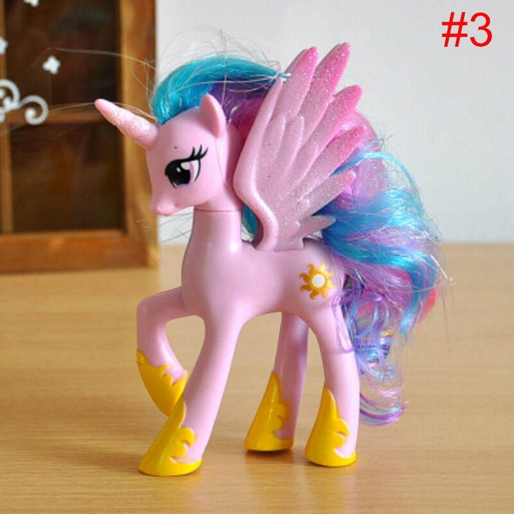 #Clearance sale, sold off the shelf.# 14 cm My Little Pony 9 Models Unicorn Dolls