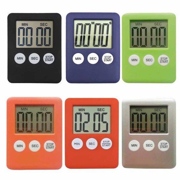 Đồng Hồ Bấm Giờ Kỹ Thuật Số LCD Báo Thức Nấu Ăn Báo Thức Đếm Thời Gian Nấu Nướng Trong Bếp 99 Phút 60 Giây