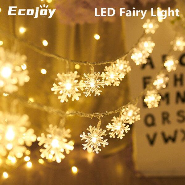 Dây Đèn LED Hình Bông Tuyết 1M/3M Cổ Tích Đèn, Vòng Hoa Hoạt Động Bằng Pin Ngoài Trời Trang Trí Giáng Sinh, Giáng Sinh Tiệc Cưới Năm Mới