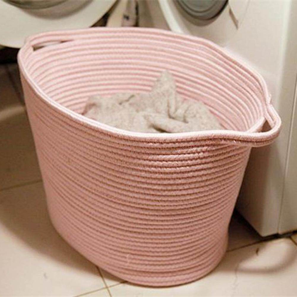 NG Nordic Style Environmentally Friendly Material Cotton Thread Laundry Basket Toy Clothes Sundries Storage Basket