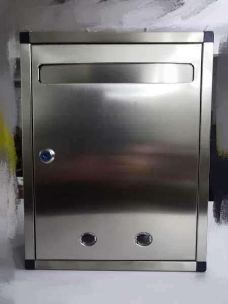 Mailbox Outdoor stainless steel Suggestion Box Mail Peti Surat Letter Box 34CM Hight 26.5CM long Letterbox