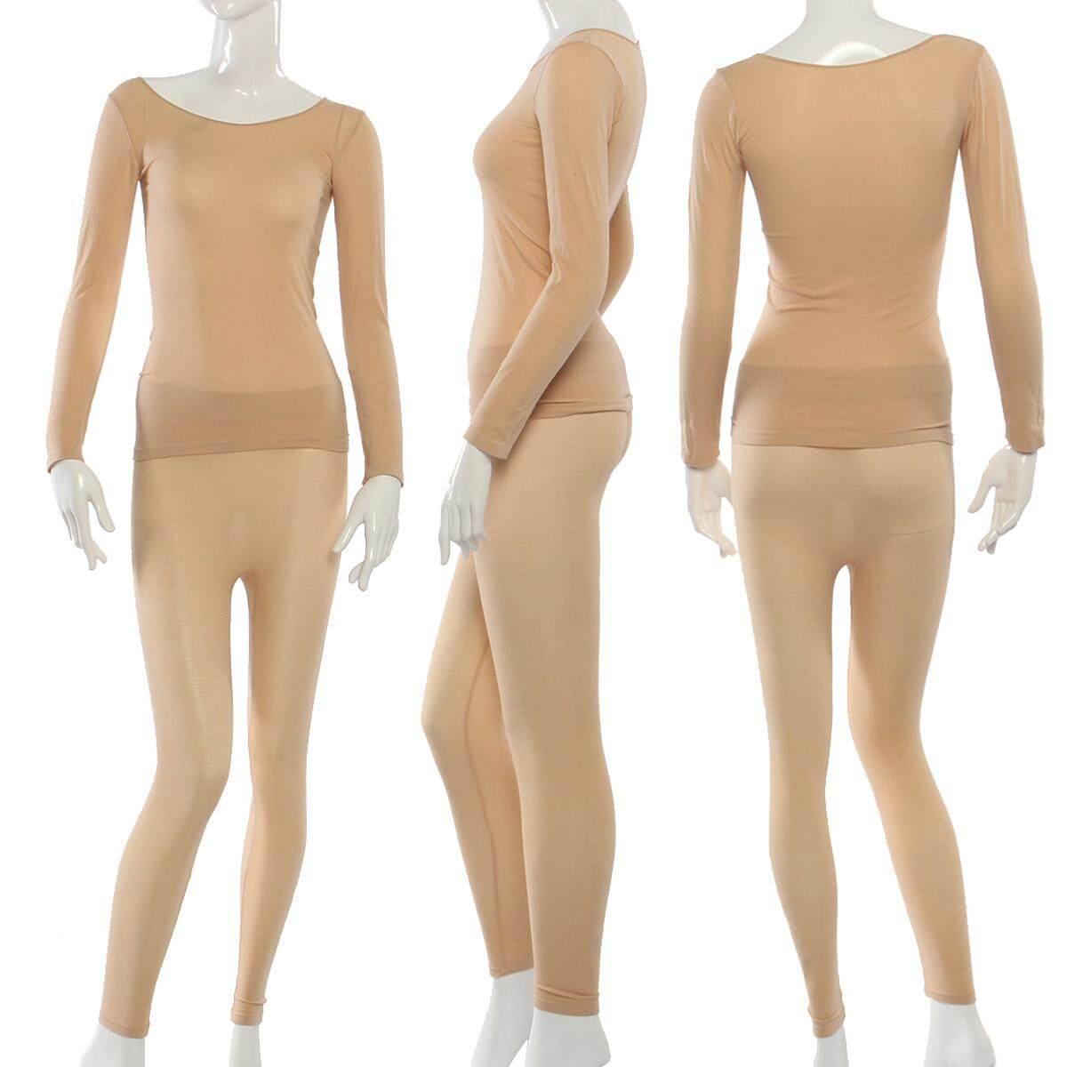 【free Shipping + Flash Deal】womens Ladies Winter Warm Thermal Underwear Set Long Sleeve Pajama Nightwear By Audew.