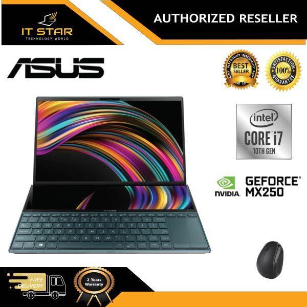 Asus Zenbook DUO UX481F-LBM069T 14  FHD Laptop Celestial Blue ( i7-10510U Processor, 16GB, 512GB, MX250 2GB, W10 ) Malaysia