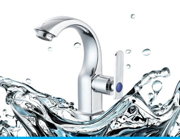 Bathroom Single Cold Basin Faucet Crescent Bend Bathroom Washbasin Faucet Toilet Lift Type Faucet