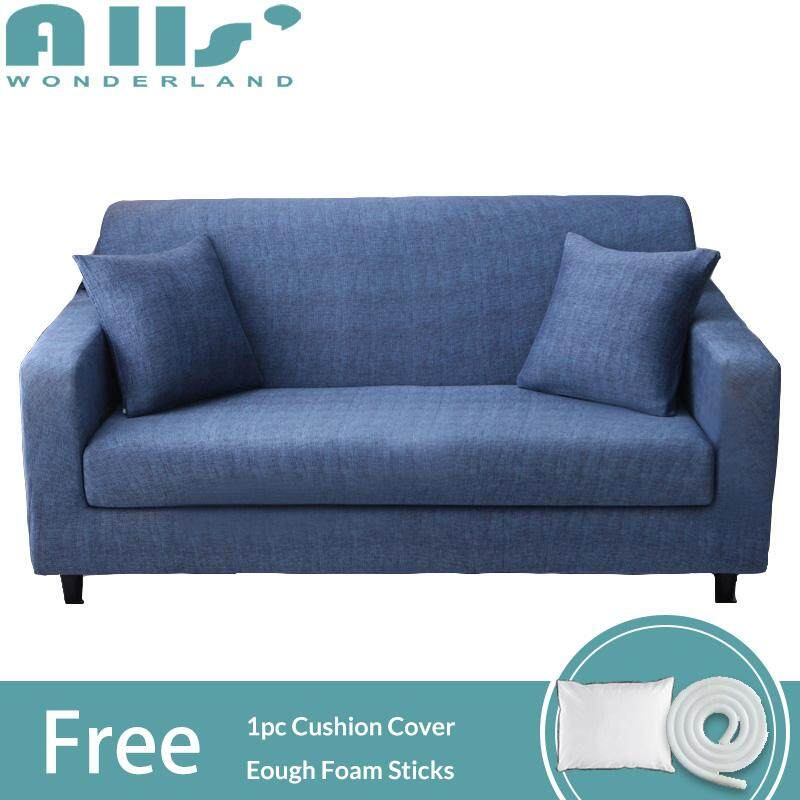【 Cover】1/2/3/4 seater Elastic All-inclusive Universal Stretchable Cover for Sofa  Muti-sizes Slipcover
