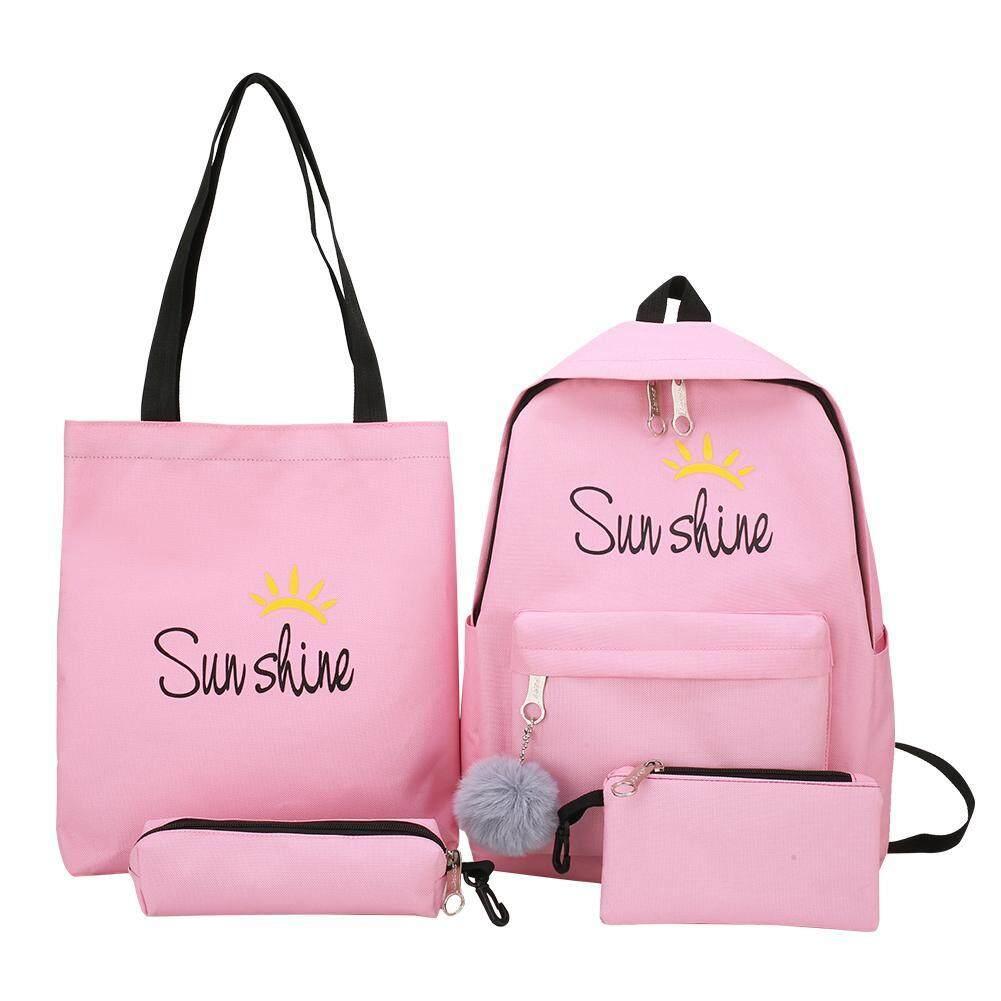7d18a3963 4pcs/set Composite Bags Women Letter Print Shoulder Bags Clutch Backpacks