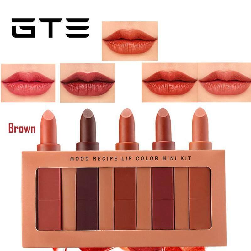 GTE Lip Color Mini Kit 5pcs/set Make-up Mood Recipe Lipstick Easy to Wear Lip (CM-2872) - Fulfilled by GTE SHOP lipstick