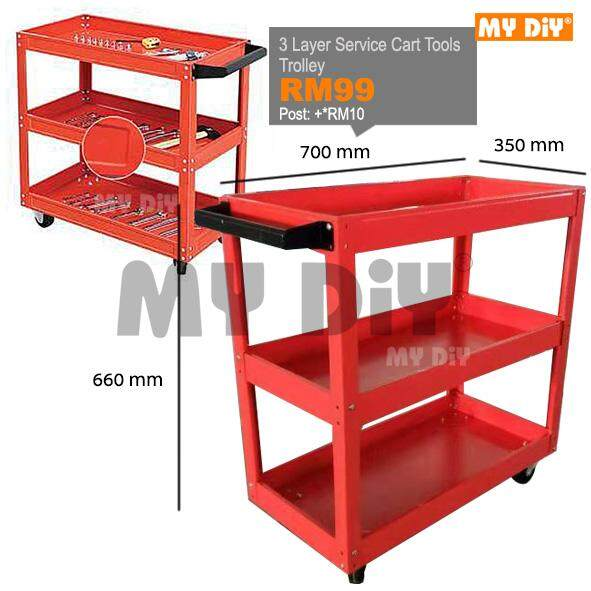 MY DIY - 3 Layer Service Cart Tools Trolley