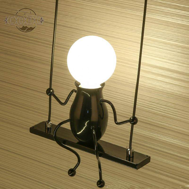 Fashion Single Head Person Shape Wall Lamp Holder for Kids Bedroom Decor (Without Bulb)