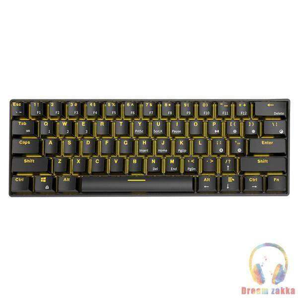 RK61 Wireless Bluetooth-compatible Wired Mechanical Backlight Gaming Office Keyboard Singapore