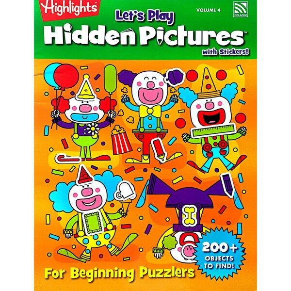 Lets Play Highlights Hidden Pictures with Stickers Vol. 4 | For Beginning Puzzlers 200+ OBJECTS to find! | Pelangi Books Malaysia