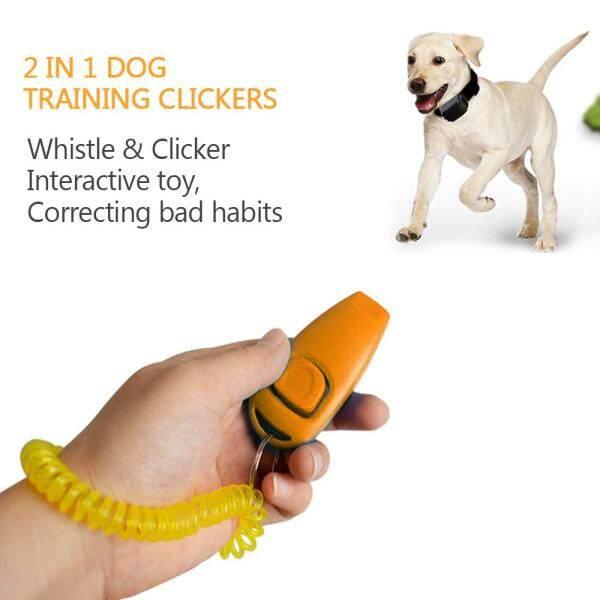 2 Cái Huấn Luyện Chó Clickers 2 Trong 1 Còi Và Dụng Cụ Huấn Luyện Thú Cưng Với Có Dây Đeo Cổ Tay Móc Chìa Khóa Cho Chó Mèo Thú Cưng