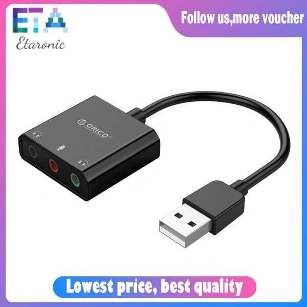 Bảng giá Nhựa ABS Đen ORICO USB 2.0 Âm Thanh Nổi Bên Ngoài Card Âm Thanh Cho Tai Nghe Máy Tính Bộ Tiếp Hợp Âm Thanh USB Phong Vũ
