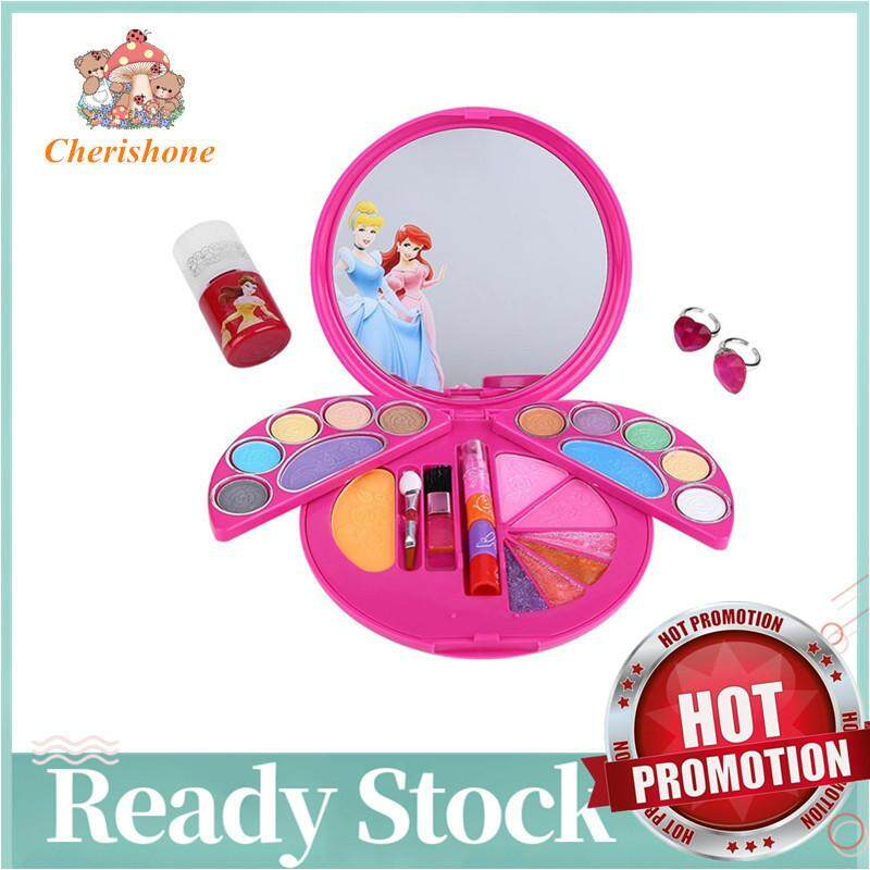 【limited Promotion】cherishone Kids Friendly Girls Makeup Set Non-Toxic Pretend Cosmetics Kit For Little Girls By Cherishone.