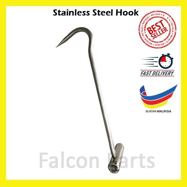 Stainless Steel T Hook Grip for Right Hand (Manhole Cover Hook)