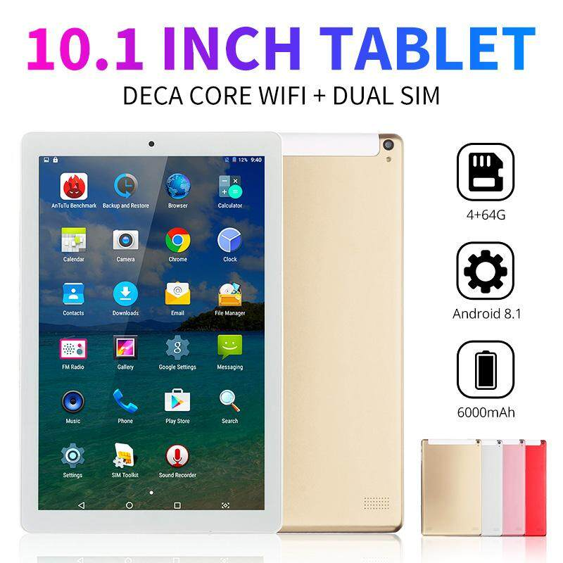 10 1inch Andriod 8 1 6000mAh Dual SIM Dual Camera Multi-language 5MP+2MP 4G  RAM 64G ROM WIFI Tablet Red/Gray/Gold/Rose