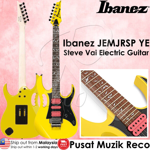 Ibanez JEMJRSP YE Steve Vai Signature Electric Guitar 24 Frets Double-Locking Tremolo , Yellow 【Made In Indonesia】 Malaysia