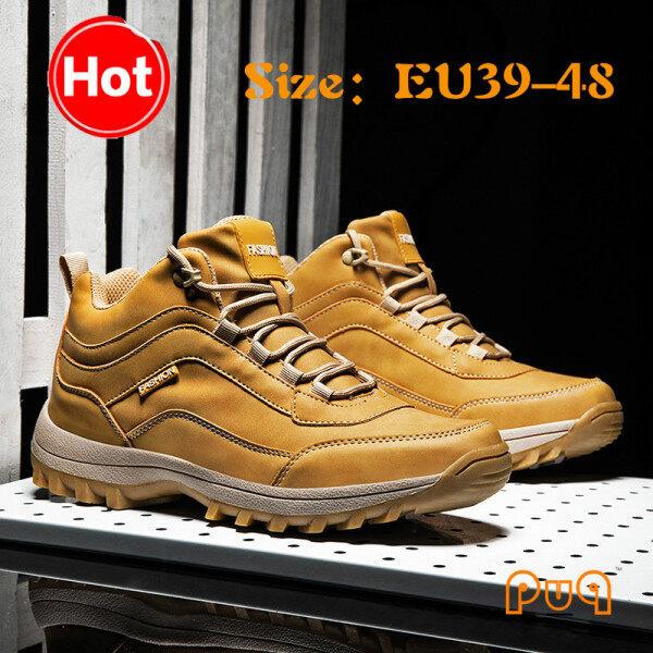 Giày Bốt đi bộ puq cho nam giày cổ cao phong cách Anh bốt quân đội cổ ngắn EU39-48 47 46 45 cỡ lớn cho mùa thu