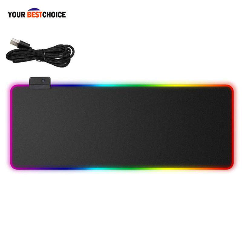 YBC Gaming Mouse Pad RGB Glowing LED Anti-slip Portable for PC Computer Laptop Malaysia