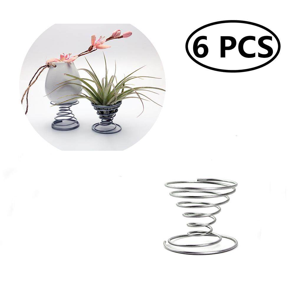 6pcs Stainless Steel Air Plant Stand Container Tillandsia Holder Tabletop Plant Display Rack Vase Pot By Eshopdeal.