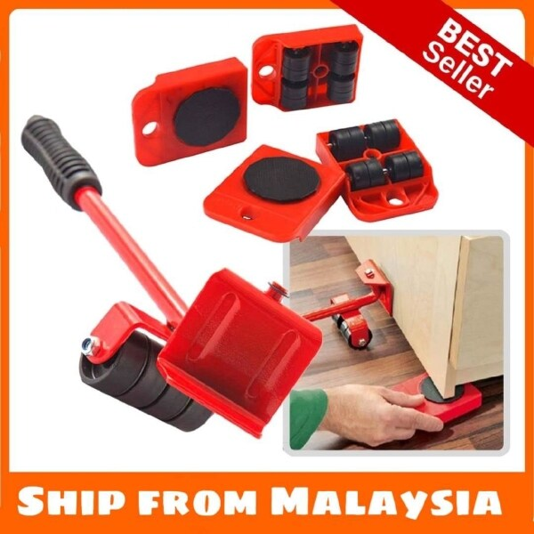 Alat Bantuan Pindah Angkat Perabut Furniture Transport Lifter Mover Tools Rolling Wheel Corner Furniture Lifter Set