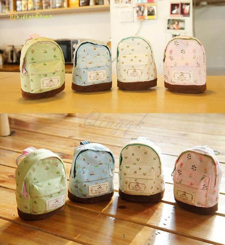 Mua Kjdf Mini Schoolbag Dây Kéo Đồng Xu Nông Thôn Hoa Thay Đổi Thẻ Ví Túi Nhỏ