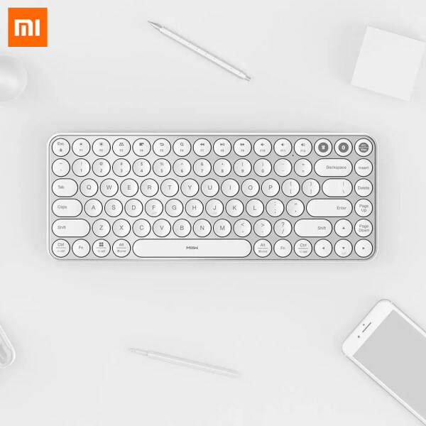 Xiaomi MIIIW Bluetooth Dual Mode Keyboard 85 Keys 2.4GHz Wireless Connection Metal Keyboard Multi System Wireless Compatible Wireless Dual Mode Connection Easy One-button Switching Status Ergonomic 8 Angle Reduce Finger Fatigue For Business Office