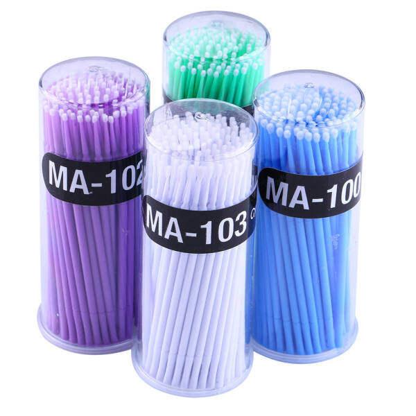 100 Cái Micro Dùng Một Lần Lông Mi Extension Brush Cá Nhân Applicators Mascara Bàn Chải Cho Phụ Nữ