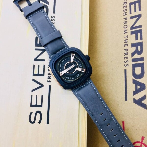 Seven_Friday_Quartz Movement Fashion/Casual Watch for Men/Women Good Quality Leather With Normal Gift Box Is Free Malaysia