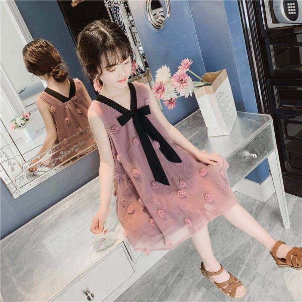 Giá bán Forsher FORHIM Váy Cho Bé Gái Mùa Hè Phiên Bản Hàn Quốc Mới Váy Sợi Cho Trẻ Em Váy Bé Gái Siêu Không Khí Chân Váy Công Chúa Ke200047