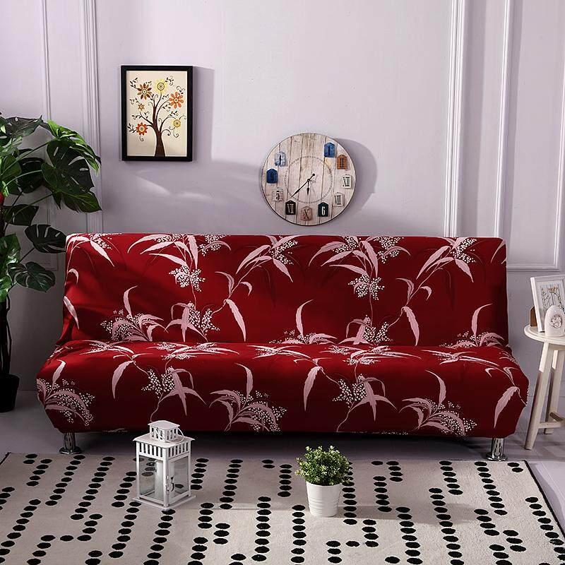 Sofa Selimut Tebal Penuh Lipat Tanpa Lengan Elastis Kasur Sarung Penutup Sofa Hiasan Rumah