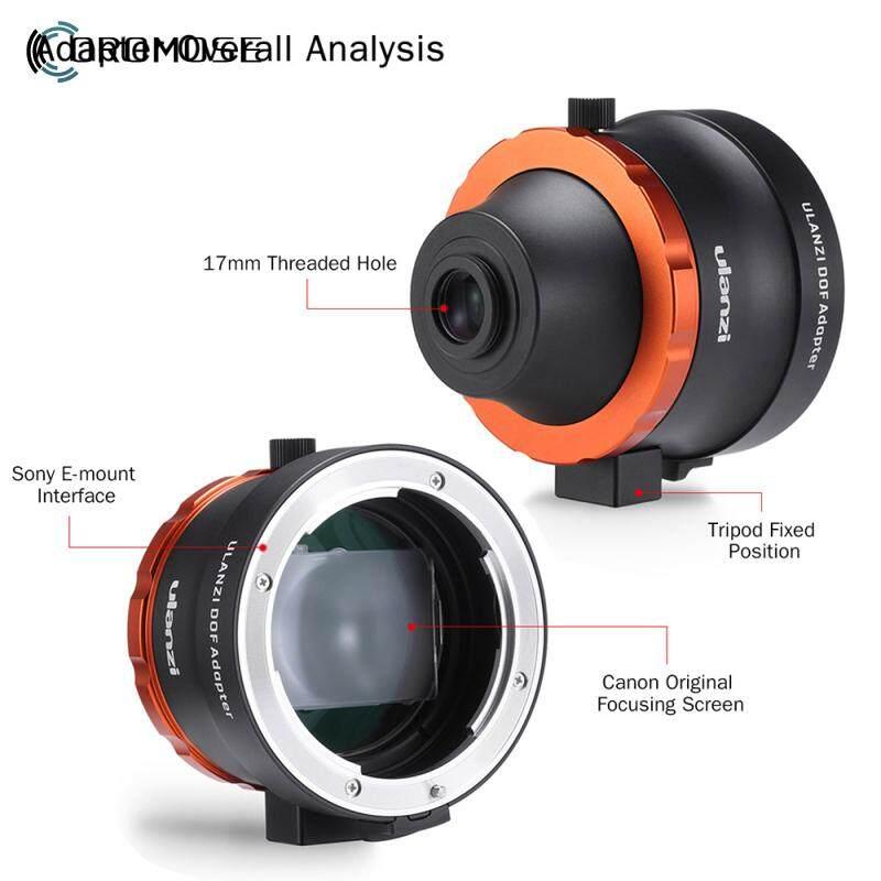 Camera Lens Adapter Ulanzi DOF Adapter E Mount Full Frame Smartphone SLR/DSLR & Cinema Lens Adapter for iPhone Andriod Phones