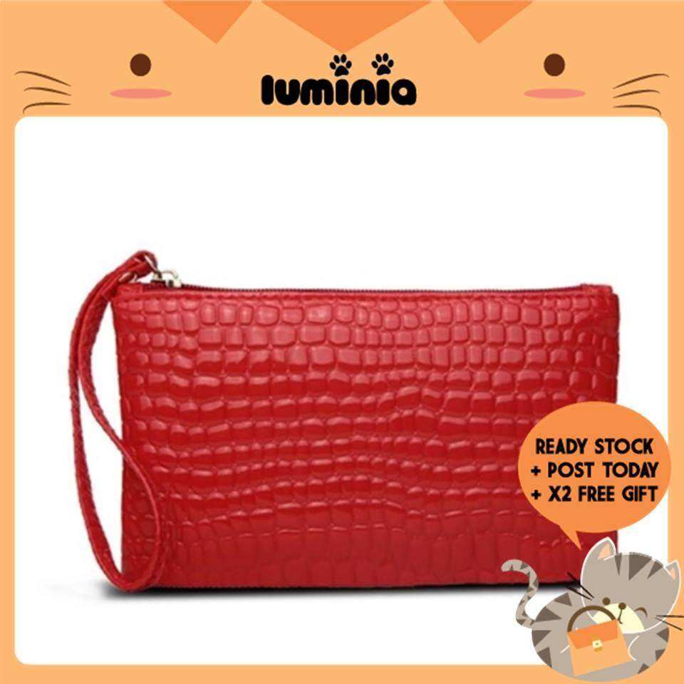 Ready Stock Luminia Malaysia - Crocodile Pouch Coin Bag Purse Wallet Dompet Beg Cosmetic By Luminia Bag & Fashion Wholesale.