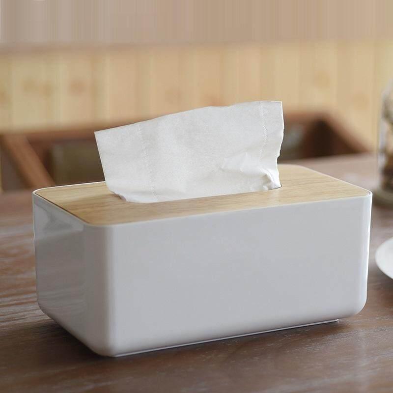 Oak Putih Kotak Tisu Rumah Kotak Penyimpanan By Keysmico.