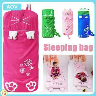 AOV Túi Ngủ Trẻ Em Hoạt Hình Chăn Chống Đá Hình Động Vật Bốn Màu Cho Trẻ Em thumbnail