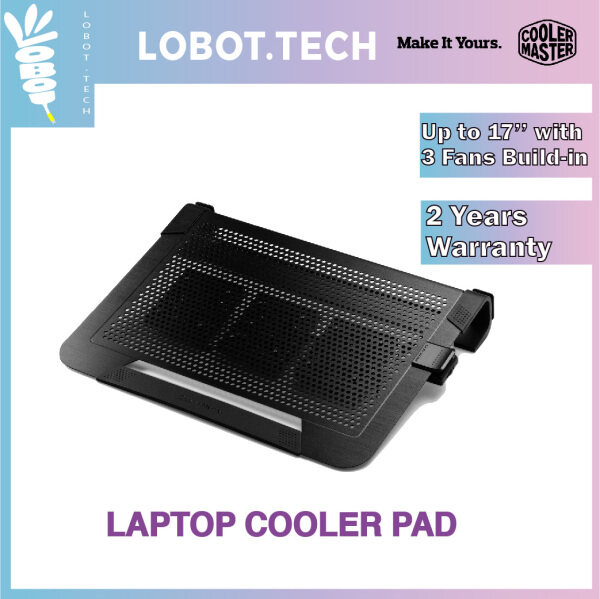 Cooler Master Notepal U3 Plus Notebook Cooler, Slim & Lightweight, Triple Movable 80cm Fans, Cable Management Support, Carrying Case Function, Supports to 17 Notebooks Malaysia